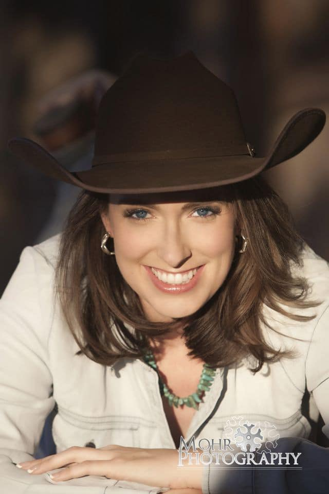 Crystal McPherson in felt hat