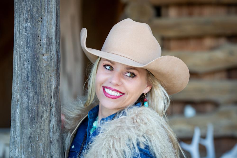 girl in JW brooks custom hat