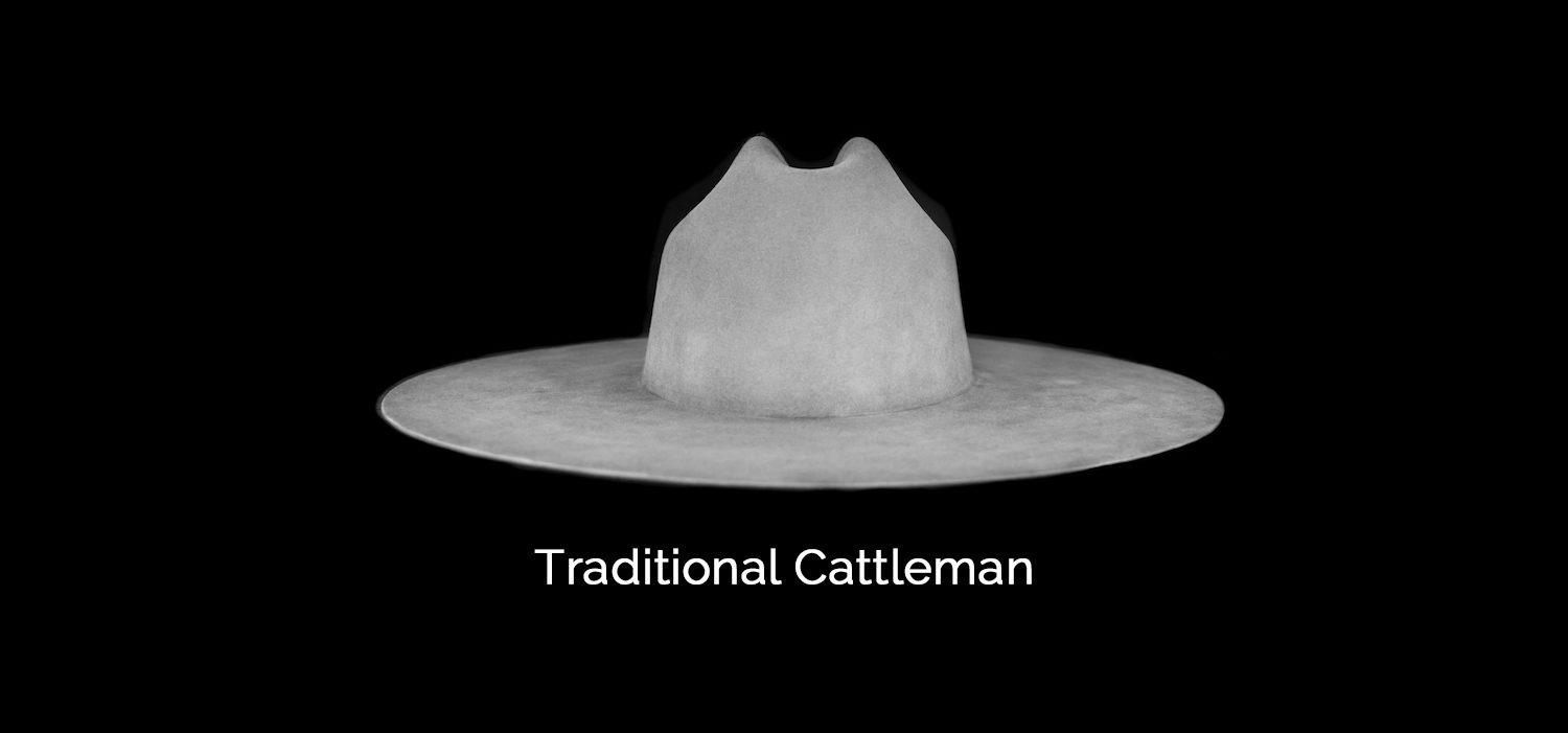 traditional cattleman crease custom hat