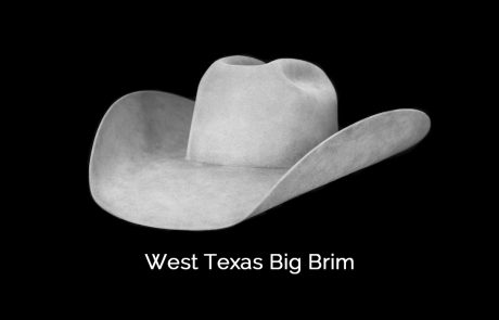 west texas big brim cowboy hat shape