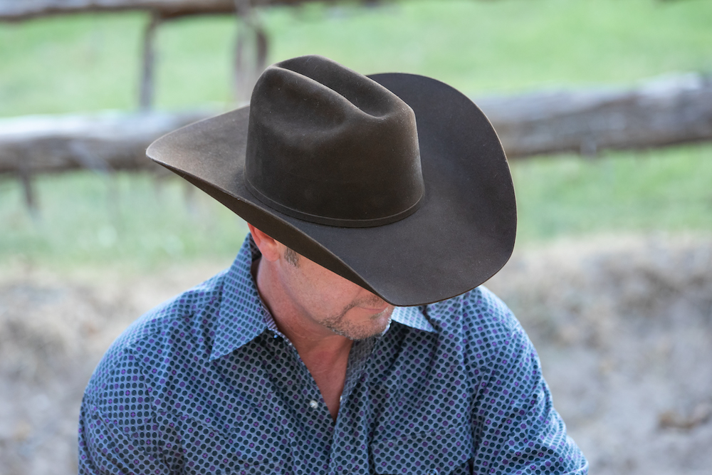 men's chocolate jw brooks custom hat
